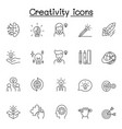 creative icons set in thin line style vector image vector image