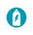 drinks energy plastic bottle power sport blue vector image vector image