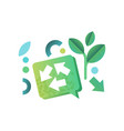 eco related symbols ecology cocept environment vector image