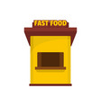 fast food trade icon flat style vector image