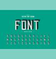font paper cut and alphabet script modern vector image vector image