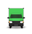 green truck icon vector image vector image