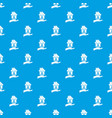 hand holding house pattern seamless blue vector image vector image