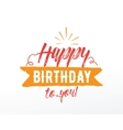 Happy Birthday typographic set design vector image vector image