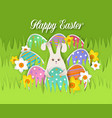 happy easter card paper cut vector image vector image