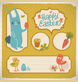 happy easter doodle cards vector image vector image