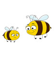 happy mother and angry daughter bee cartoon vector image
