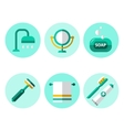 Hygiene Icons Flat Set vector image