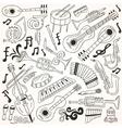 jazz - doodles vector image vector image