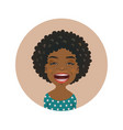 laughing afro american woman avatar vector image