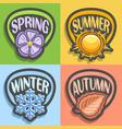 logo four seasons vector image vector image