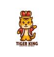 logo tiger king mascot cartoon style vector image
