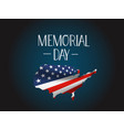 memorial day greeting banner vector image vector image