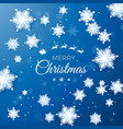merry christmas greetings card origami snowfall vector image vector image