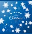merry christmas greetings card origami snowfall vector image