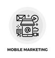 Mobile Marketing Line Icon vector image