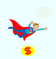 Mr dolar flying vector image vector image