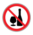 No alcohol drinks sign vector image