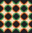 orange green pink barbed quatrefoil seamless vector image vector image