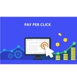 PPC advertising and conversion concept Internet vector image vector image