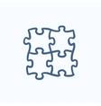 Puzzle sketch icon vector image