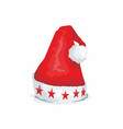 red santa hat on white background vector image