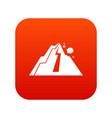 rockfall icon digital red vector image vector image