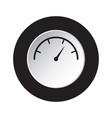 round black white button - gauge dial symbol vector image vector image