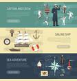 sailing horizontal banners webpage design vector image