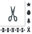 scissors icon sign and button vector image