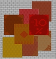 seamless texture brick wall vector image vector image