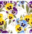 Seamless varicolored pansies vector image vector image