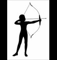 shadow of an archery vector image vector image