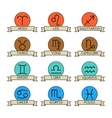 Signs of the zodiac for horoscope and predictions vector image vector image