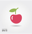 single cherry with a leaf isolated vector image vector image