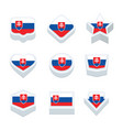 slovakia flags icons and button set nine styles vector image vector image