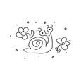 Snail with flowers clam hand drawing coloring