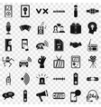 stereo icons set simple style vector image vector image