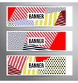 Striped pattern banners vector image vector image