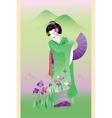 Summer geisha vector image vector image