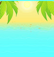 summertime empty background with sandy shoreline vector image vector image