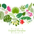 Tropical paradise card with stylized leaves and vector image vector image