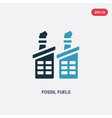 two color fossil fuels icon from industry concept vector image vector image