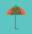 umbrella decorated with autumn floral ornaments vector image vector image