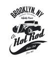 vintage hot rod logo vector image vector image