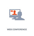web conference icon premium two colors style vector image vector image