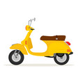 yellow vintage motorcycle vector image vector image