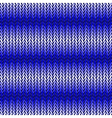 Design seamless blue horizontal knitted pattern vector image
