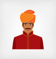 Indian man in traditional clothes vector image