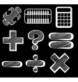 Different mathematical symbols vector image